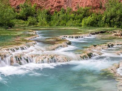 Havasu Creek Terrace Panorama (click for full width)