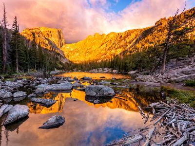 Golden Dream Lake Outlet Sunrise