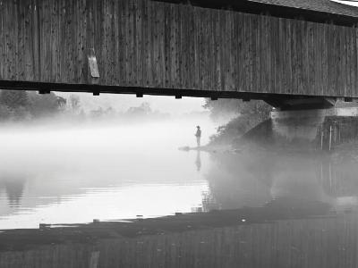 Fisherman at Downsville Bridge