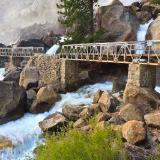 Wapama Falls Misty Bridge