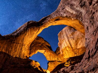Moonlight Glow on Double Arch