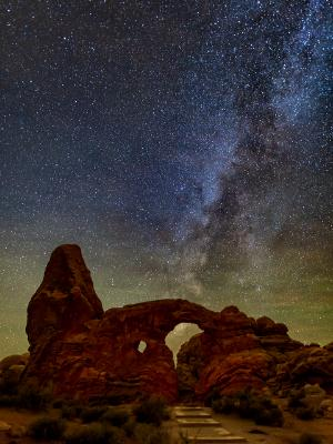 Milky Way over Turret Arch Path