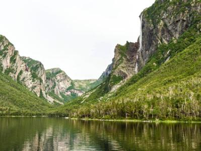 Western Brook Pond Reflected Cliffs