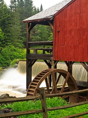 Old Red Mill & Waterfall