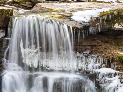 West Kill Falls Icy Closeup