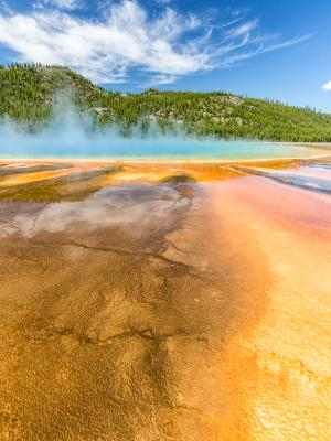 Vertical View of Grand Prismatic Spring