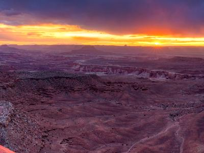 Canyonlands Grand Viewpoint Sunset Panorama
