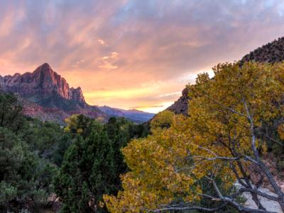 Zion Canyon Autumn Sunset
