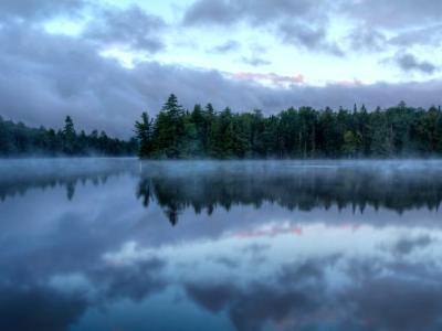 Foggy Morning on Seventh Lake