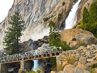 Wapama Falls and Footbridge