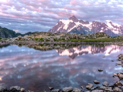 Mt. Shuksan and Artist Ridge Tarn