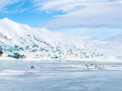 Heinabergsjokull Glacier Panorama