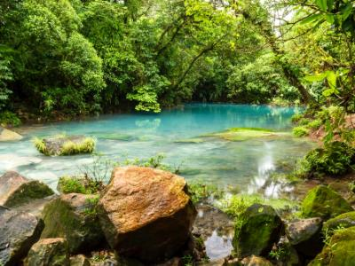 Blue Lagoon on Rio Celeste