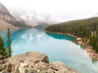 Foggy Morning Moraine Lake