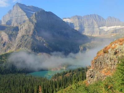 Foggy Grinnell Lake