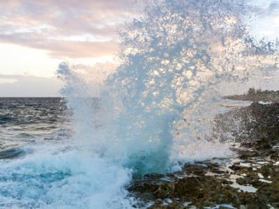 Grand Cayman Blow Hole at Sunset