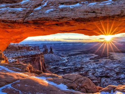 Canyonlands Mesa Arch Winter Sunrise