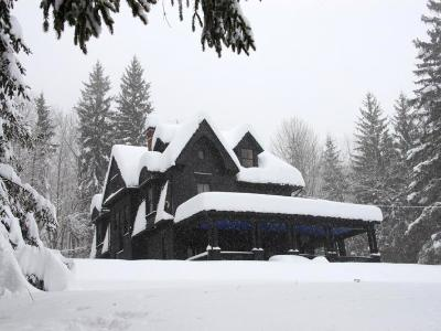 Black House in Snow