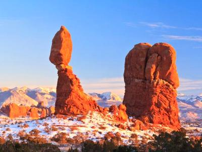 Balanced Rock Winter Panorama  (Click for full width)