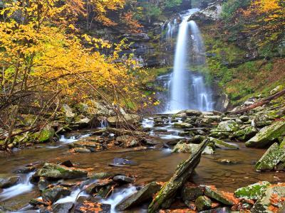 Silky Plattekill Falls in Autumn