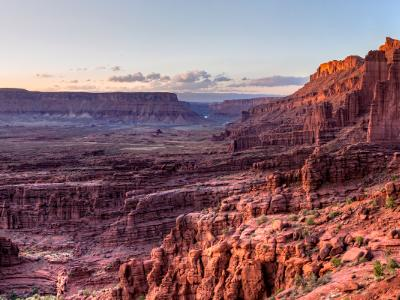 Fisher Towers and Professor Valley Panorama (Click for full width)