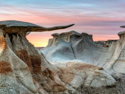 Bisti Badlands Stone WIngs Soft Sunset