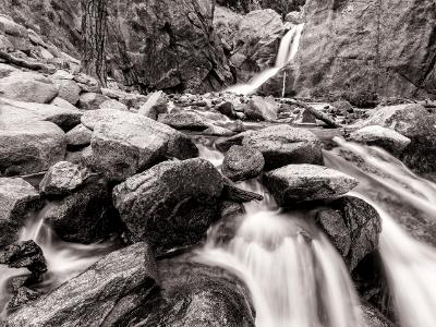 North Boulder Creek and Falls B&W