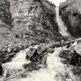 Apikuni Falls and Cliffs