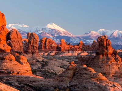 Red Rocks and Purple Mountains (Click for full width)