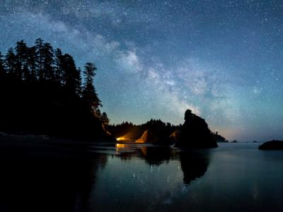 Milky Way over Ruby Beach