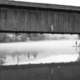Foggy Downsville Bridge Fishing