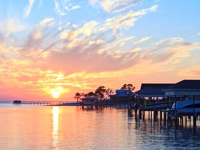 Gulf Breeze Boat House Sunset