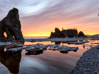 Ruby Beach Reflecting Pool Sunset