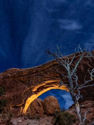 Night Sky over North WIndow Arch