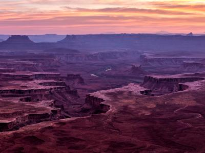 Green River Overlook Vivid White Rim Sunset