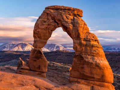 Delicate Arch Winter Golden Hour
