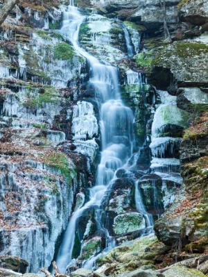 Icy Blue Falls in Peekamoose Gorge