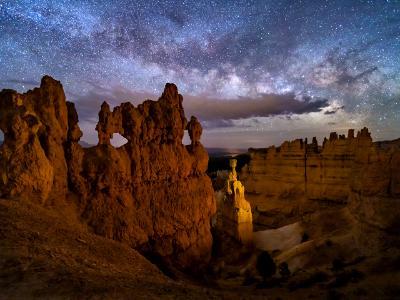 Bryce Windows on the Night Sky
