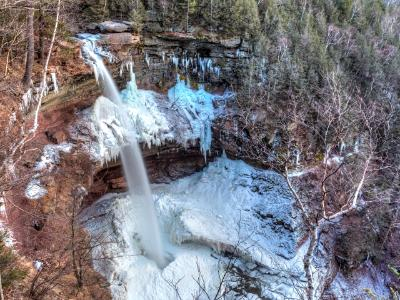 Kaaterskill Falls From Above