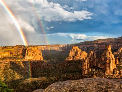 Monument Canyon Double Rainbow
